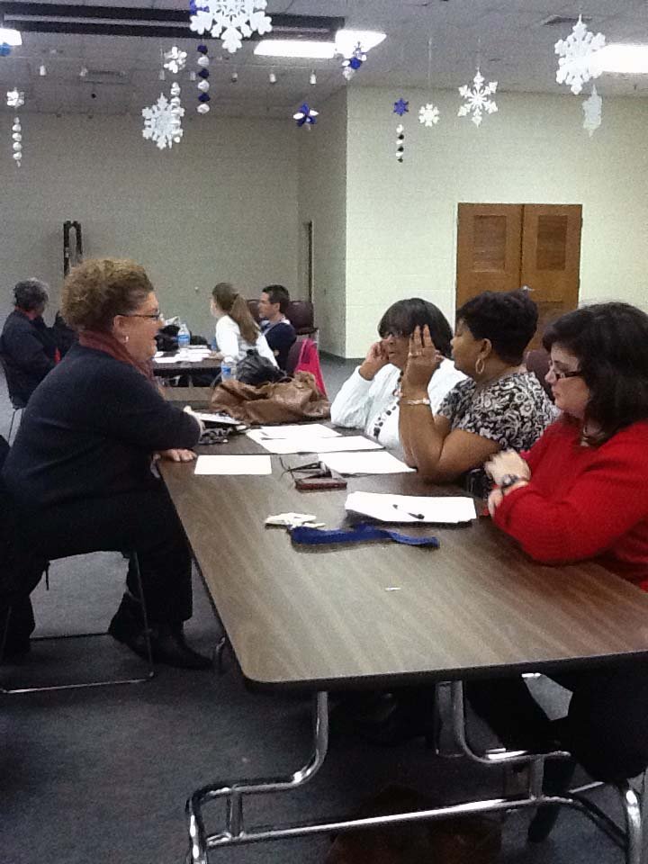 Hampton City teachers at a recent Collaborative Learning Team Meeting