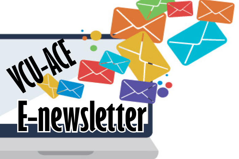 Logo for E-Newsletters with a laptop and mail icons spilling from it