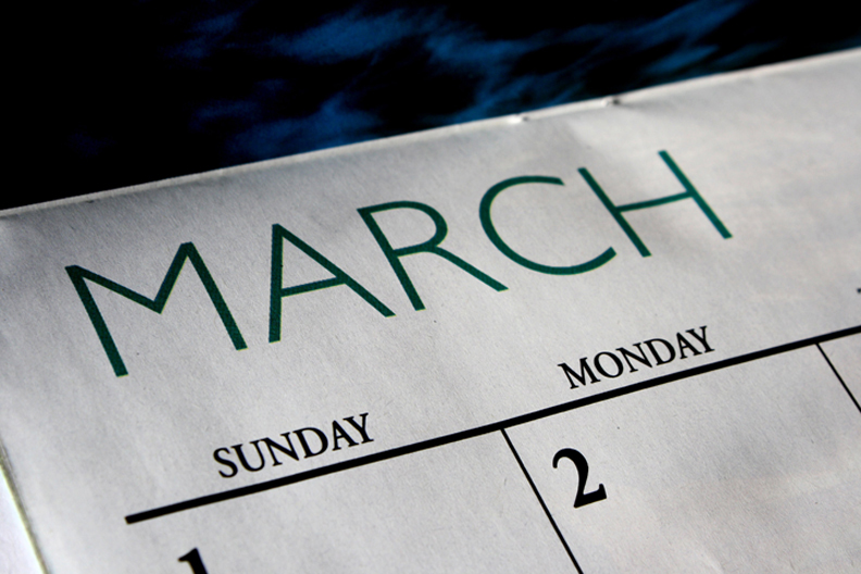 Picture of March calendar page