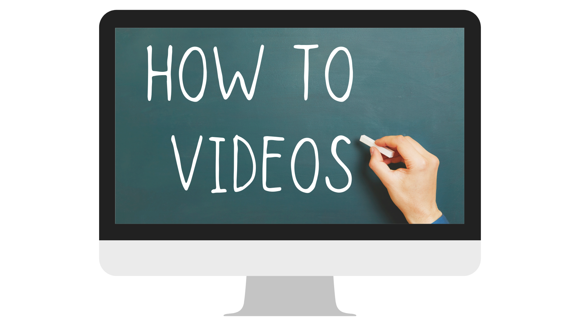 how to videos on a image of a computer screen